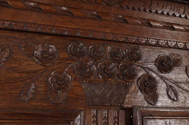 B238 Antique French Normandy Marriage Armoire Wardrobe