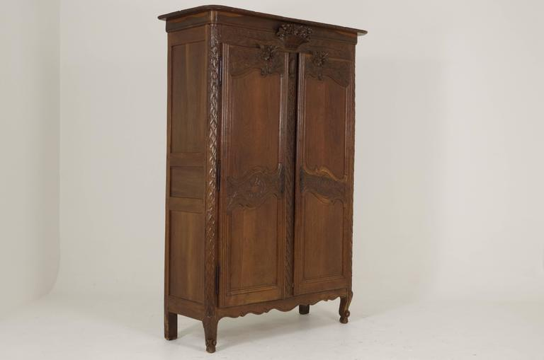 B239 Antique French Two-Door Armoire/Wardrobe, 1850 At 1stdibs