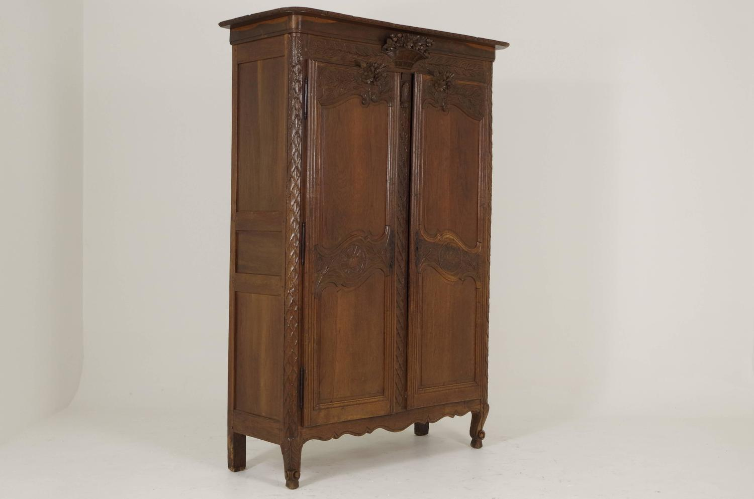 B239 Antique French Two Door Armoire Wardrobe 1850 For