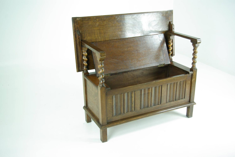 Foyer Bench For Sale : B oak barley twist linen fild hall monks foyer bench