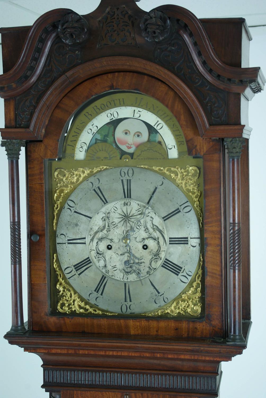 Early 19th Century English Mahogany Long Cased Grandfather Clock ...