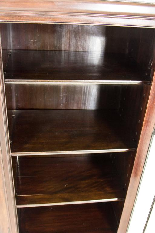 Antique Scottish Three Door Chippendale Mahogany Bookcase Display Case For S