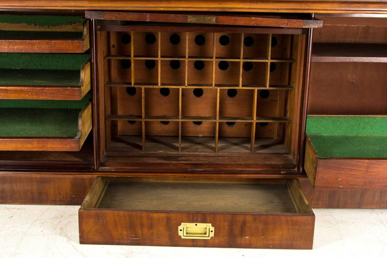 Large Antique Scottish Victorian Mahogany Sideboard