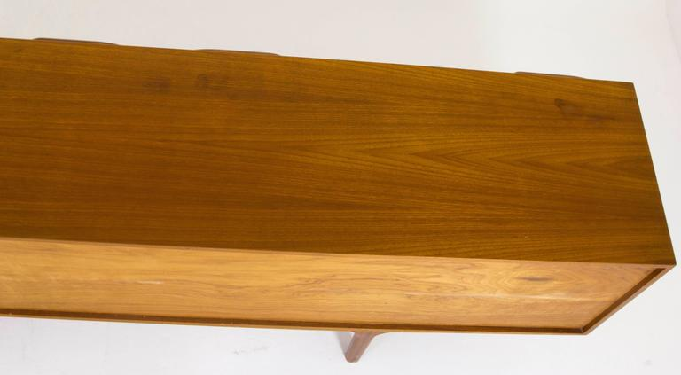 Hand-Crafted Mid-Century Modern Teak Credenza, Sideboard, Console by A.H. McIntosh For Sale