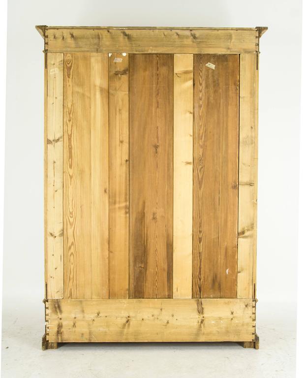 antique danish two door pine armoire wardrobe closet at. Black Bedroom Furniture Sets. Home Design Ideas