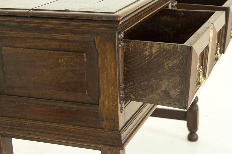 petite scottish antique oak dresser or sideboard for sale at 1stdibs. Black Bedroom Furniture Sets. Home Design Ideas