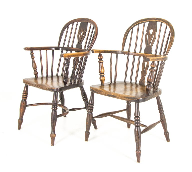 Pair of Windsor Chairs Antique Chairs High Back Chairs, Scotland, 1920 2 - Pair Of Windsor Chairs Antique Chairs High Back Chairs, Scotland