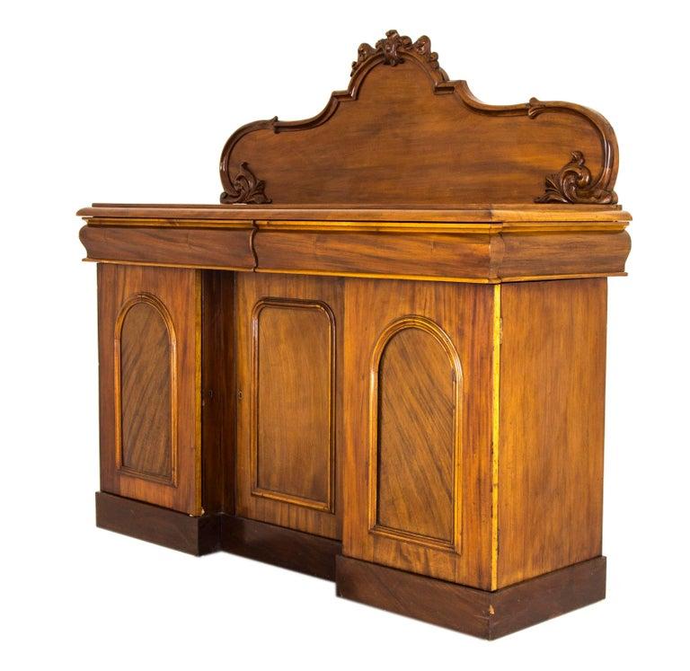 Antique Sideboard Victorian Mahogany Buffet Vintage