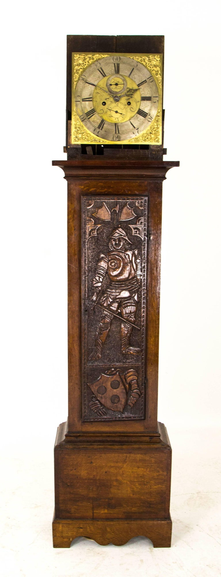 Grandfather Clock Long Case Clock Brass Faced, Carved ...