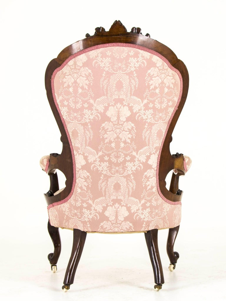 Victorian Parlor Chair Carved Mahogany Chair Scotland