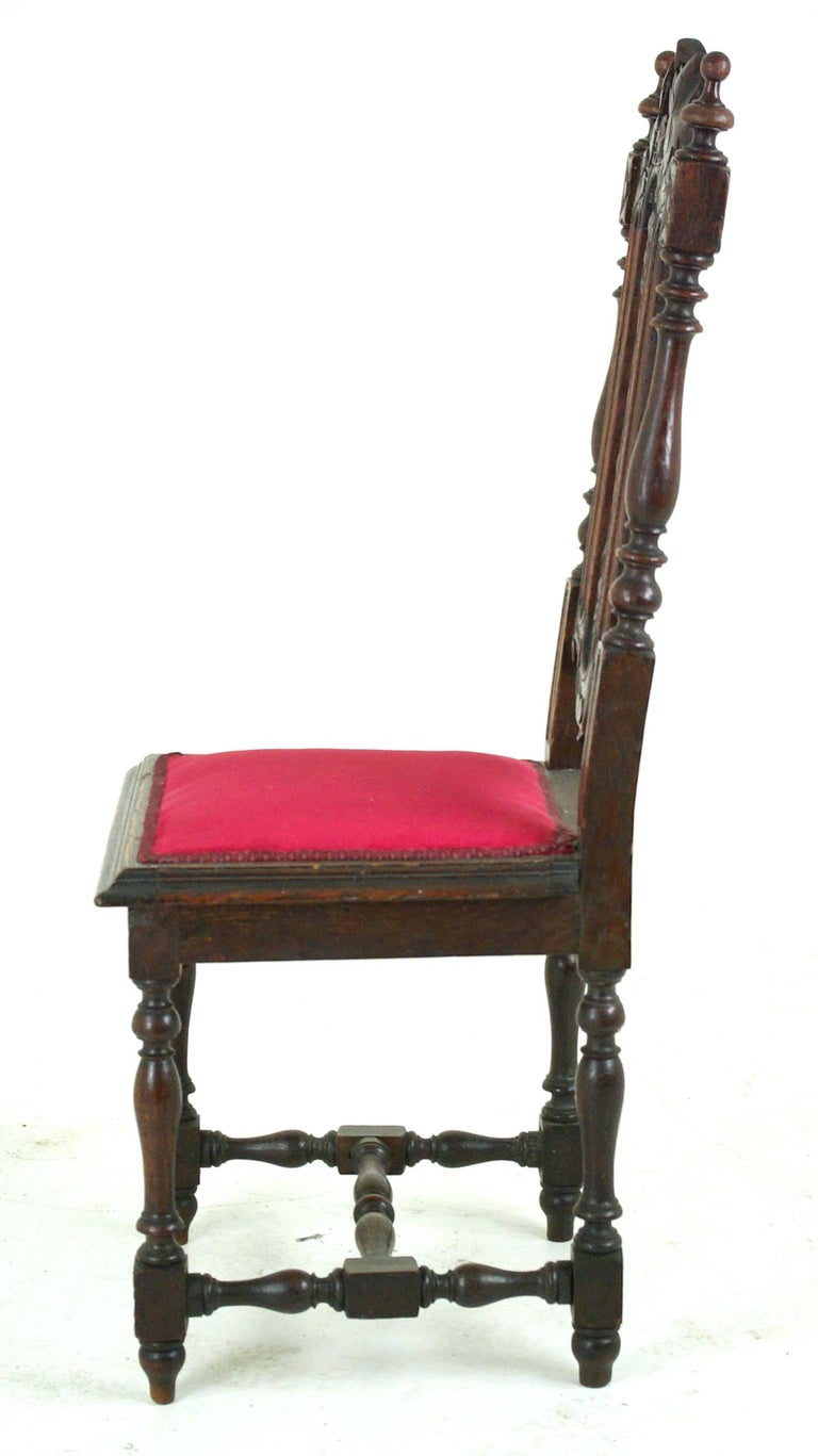 Two Antique Hall Chairs Victorian Hall Chairs Scotland