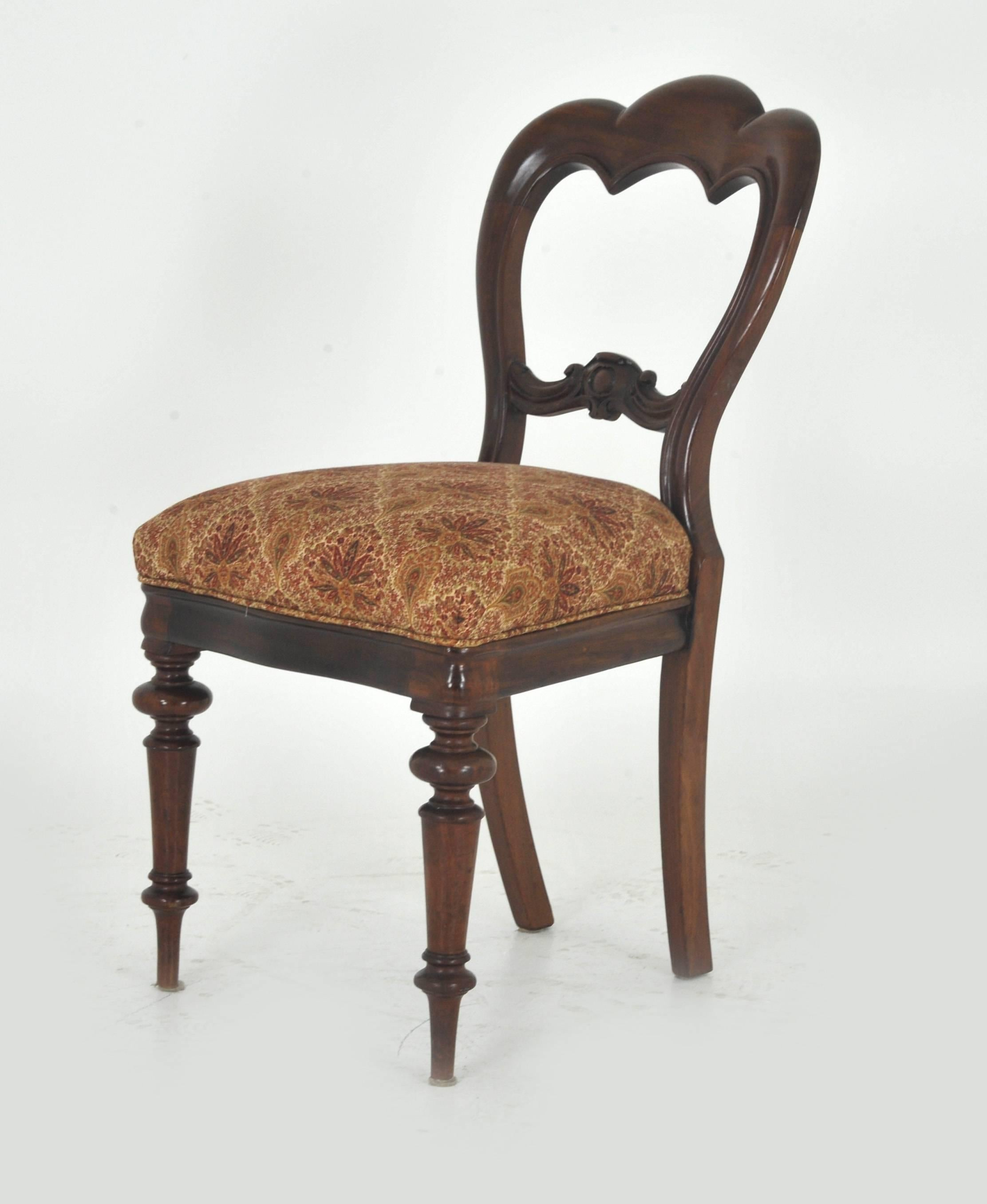 Scottish Balloon Back Dining Chairs Victorian Antique Mahogany, Set Of Six  REDUCED!