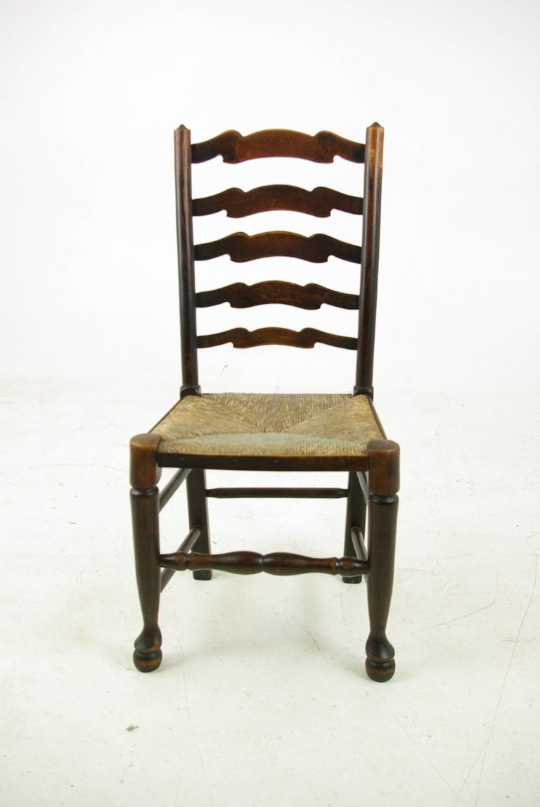 Ash Antique Dining Chairs, Rush Chairs, Ladder Back Chairs, 1930s, B1014  REDUCED - Antique Dining Chairs, Rush Chairs, Ladder Back Chairs, 1930s, B1014
