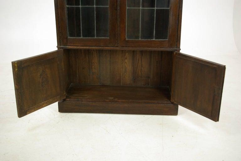 Hand-Crafted Antique Oak Bookcase, Arts & Crafts Bookcase, Scotland 1910, Antique Furniture For Sale
