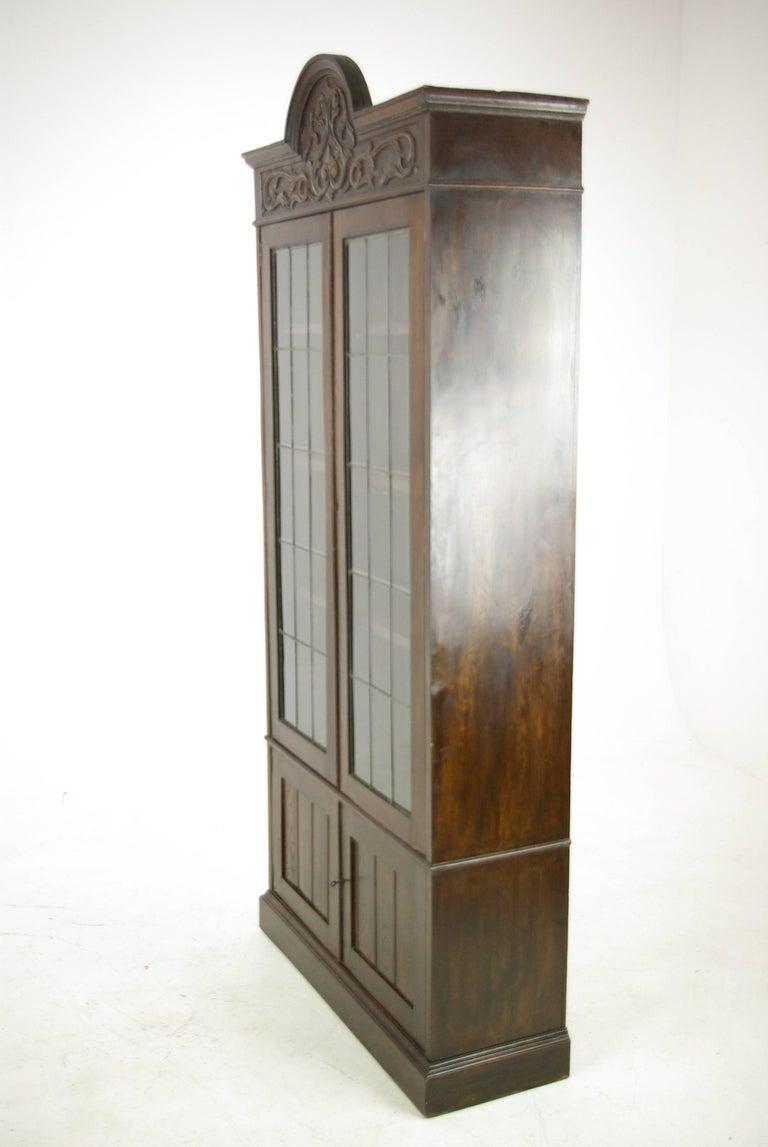 Antique Oak Bookcase, Arts & Crafts Bookcase, Scotland 1910, Antique Furniture For Sale 2