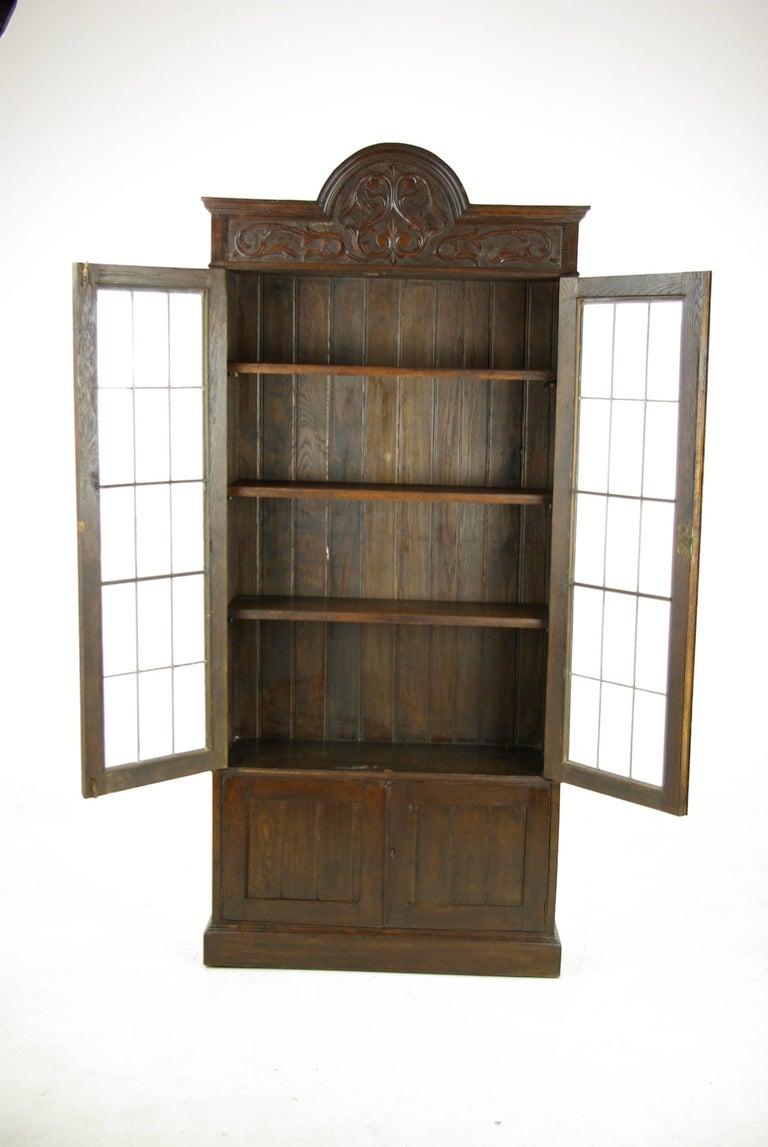 Arts and Crafts Antique Oak Bookcase, Arts & Crafts Bookcase, Scotland 1910, Antique Furniture For Sale