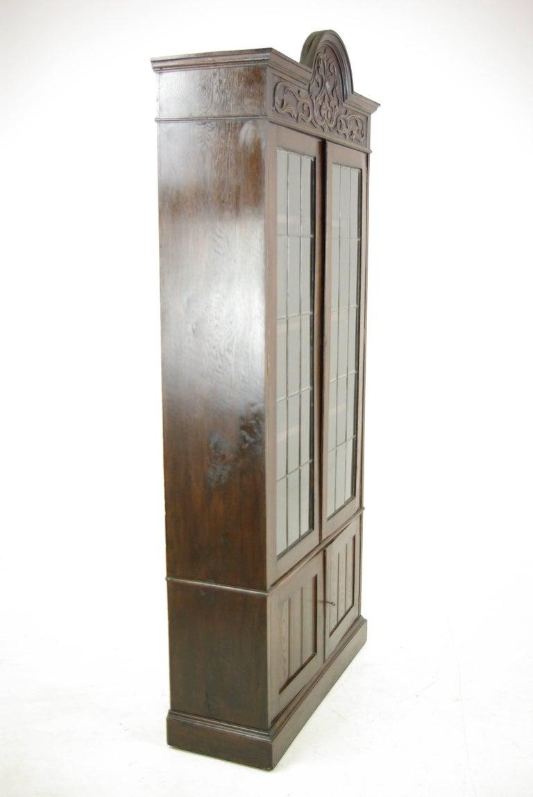 Antique Oak Bookcase, Arts & Crafts Bookcase, Scotland 1910, Antique Furniture For Sale 1