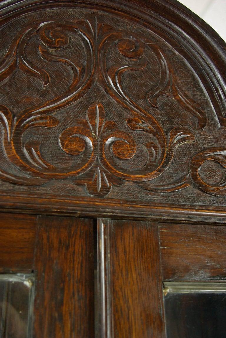 Early 20th Century Antique Oak Bookcase, Arts & Crafts Bookcase, Scotland 1910, Antique Furniture For Sale