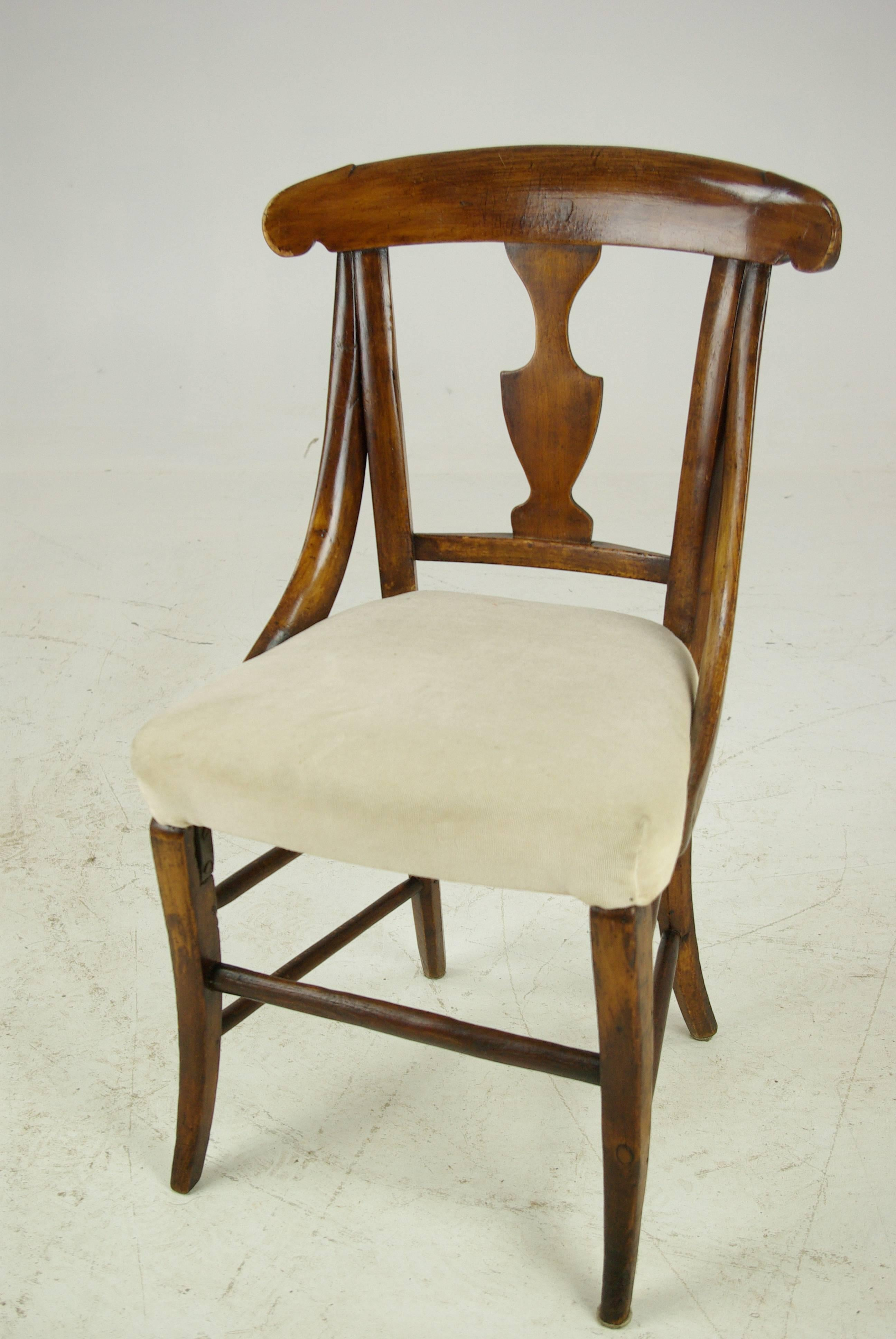 Antique Dolls Chair, Childs Chair, Victorian, Sycamore, Scotland 1880 For