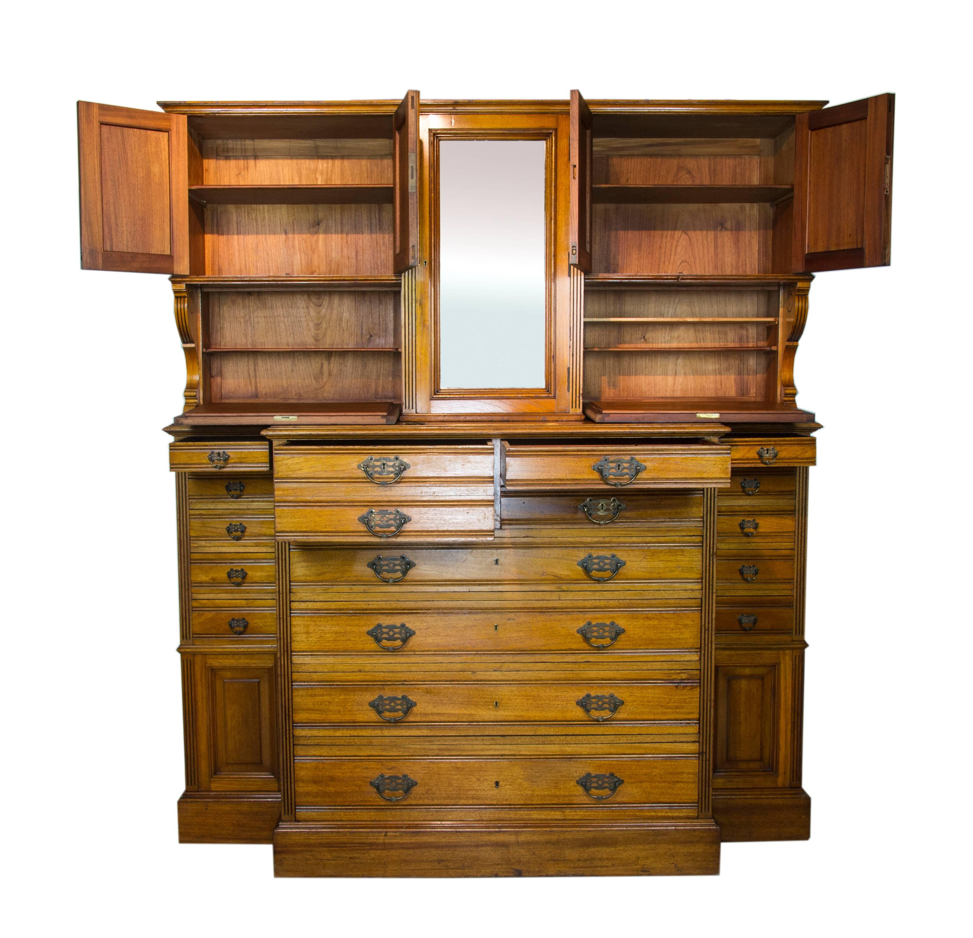 Antique Apothecary Cabinet, Antique Dentist Cabinet, Solid Walnut, 1870, B1061