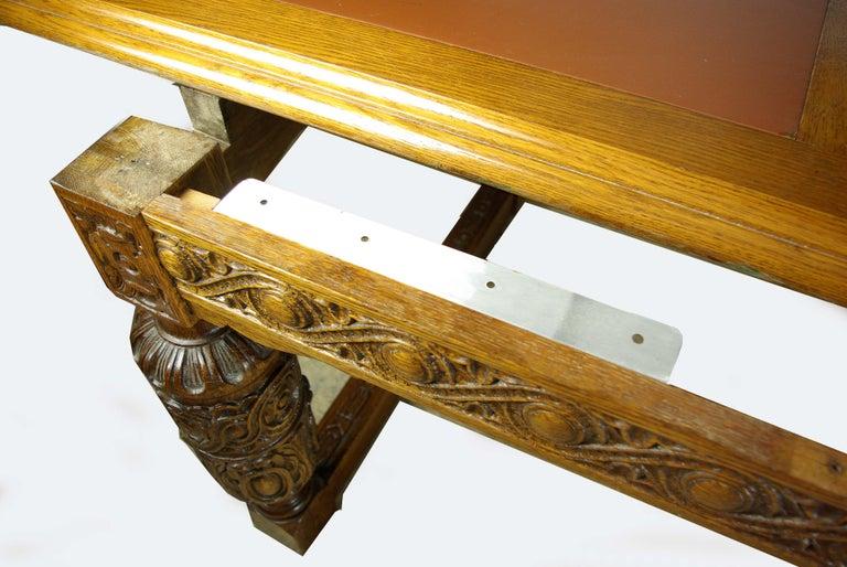 Carved Oak Boardroom Table Large Conference Table Gothic Table - Large boardroom table