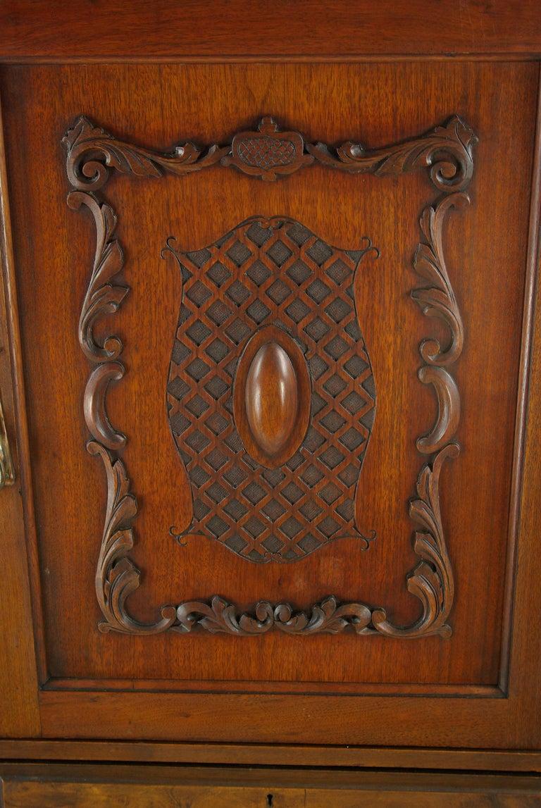 Antique walnut armoire, walnut wardrobe, chest of drawers, Scotland, 1900,  Antique - Antique Walnut Armoire, Walnut Wardrobe, Chest Of Drawers, Scotland