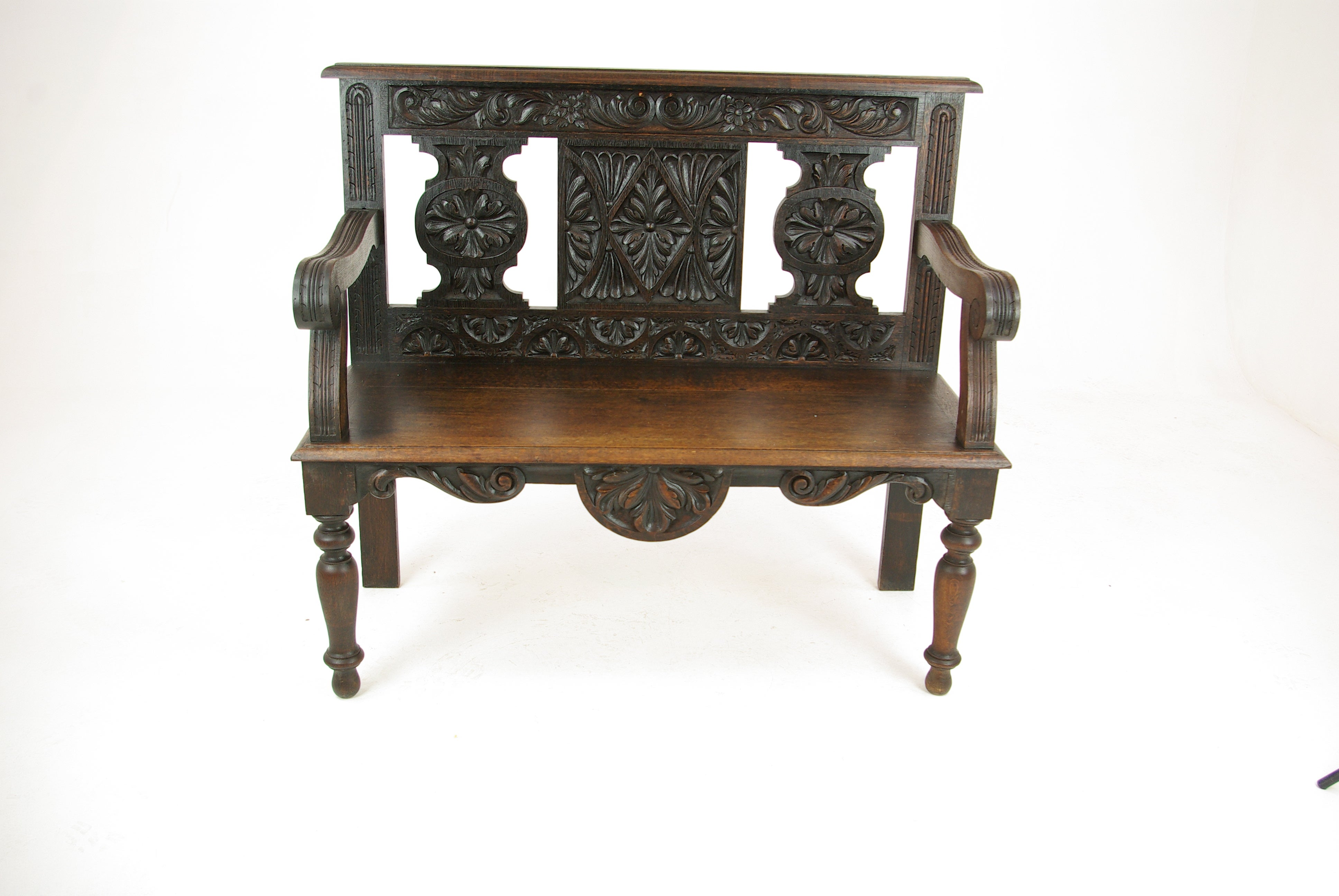 Hall bench hall seat carved oak bench entryway furniture 1880 for sale at 1stdibs