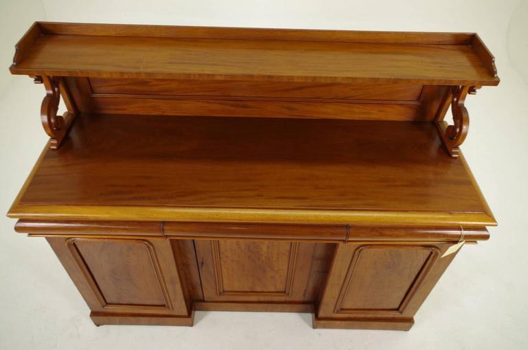 19th Century Scottish Victorian Mahogany Sideboard Buffet