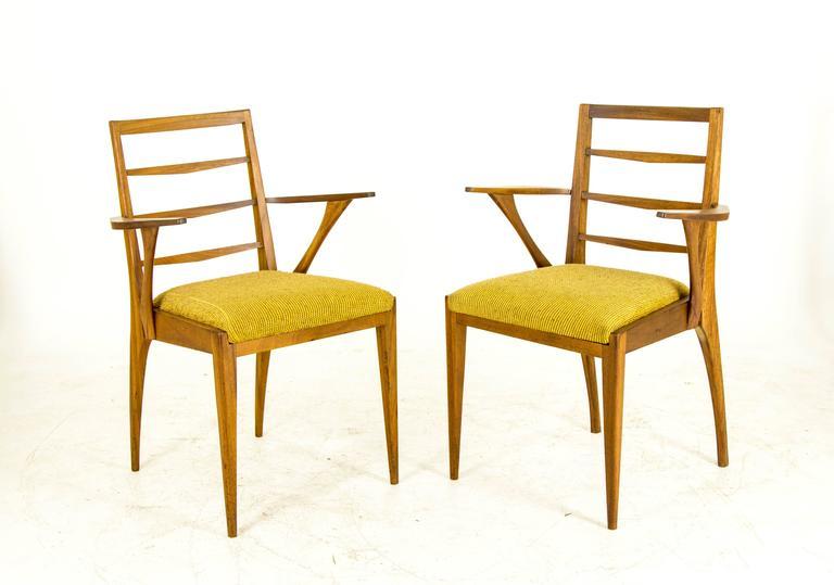 B507 vintage mid century modern six teak dining side for G plan dining room furniture