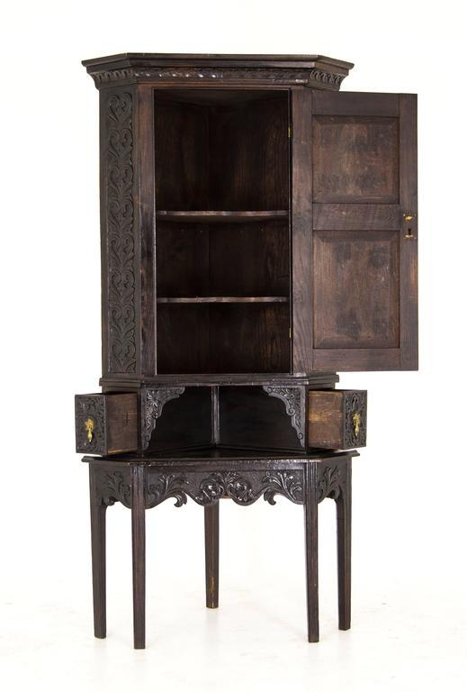 Corner Cabinet Antique Oak Cabinet Victorian Cabinet Scotland ...
