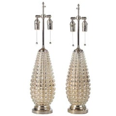 Faux Crocodile Mercury Glass Lamps