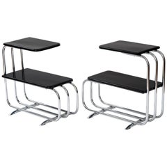 Alfons Bach Machine Age Tubular Chrome End Tables