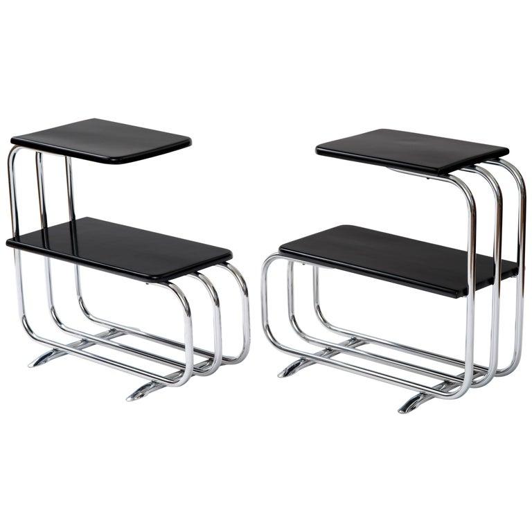 Alfons Bach Machine Age Tubular Chrome End Tables