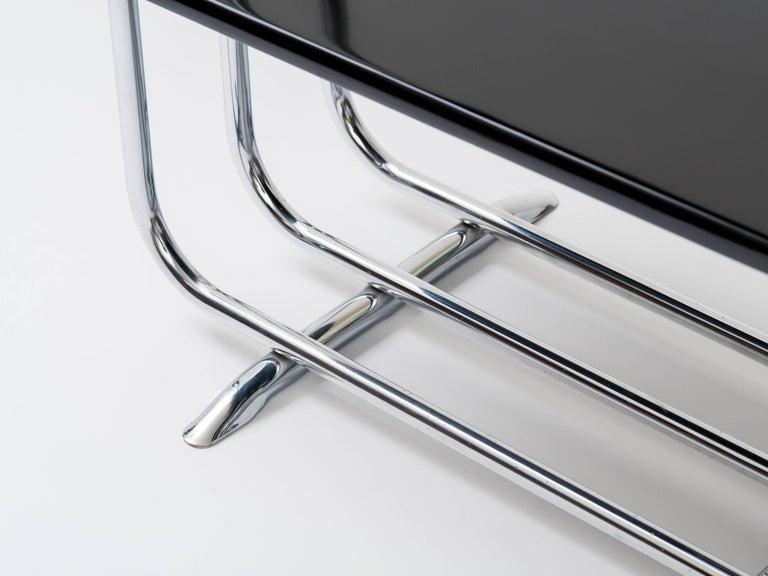 Alfons Bach Machine Age Tubular Chrome End Tables For Sale 1