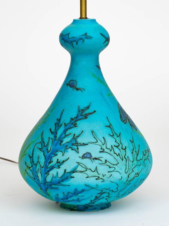 turquoise ceramic l