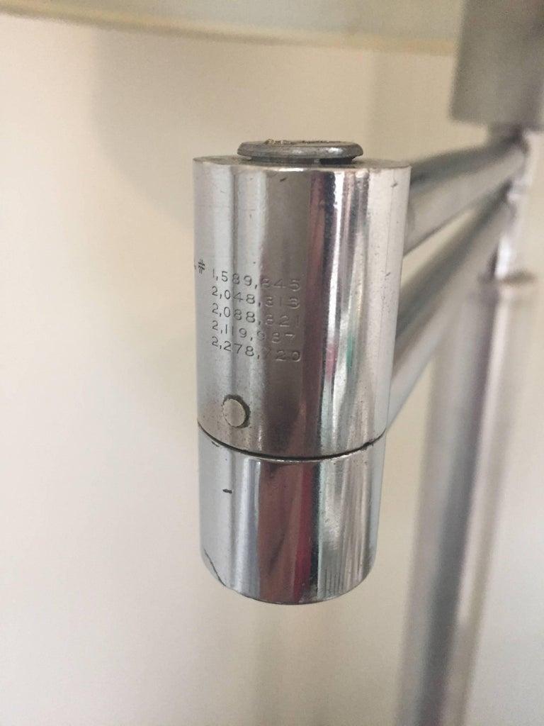 Walter Von Nessen Style Brushed Aluminium Swing Arm Floor Lamp 5