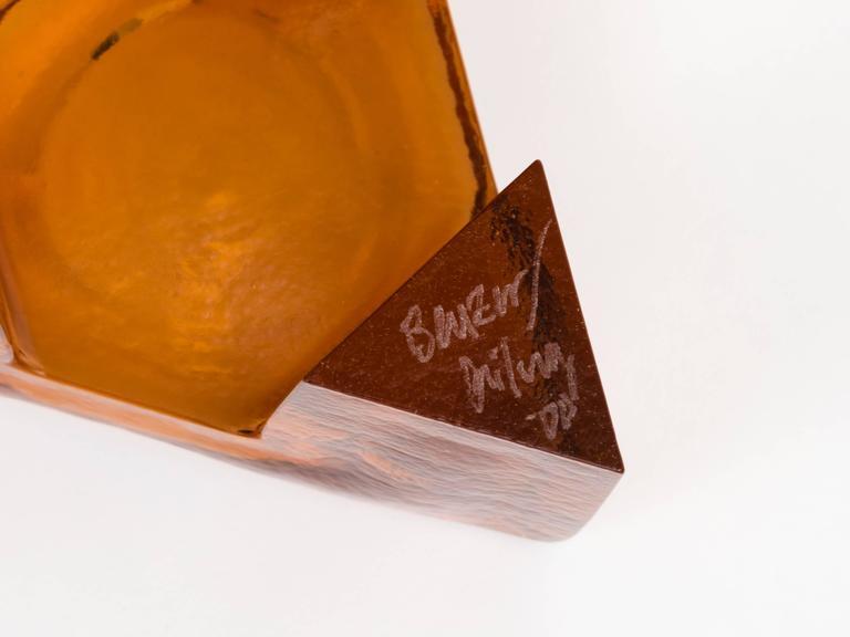 Memphis Style Art Glass Elemental Bowl Sculpture For Sale 1