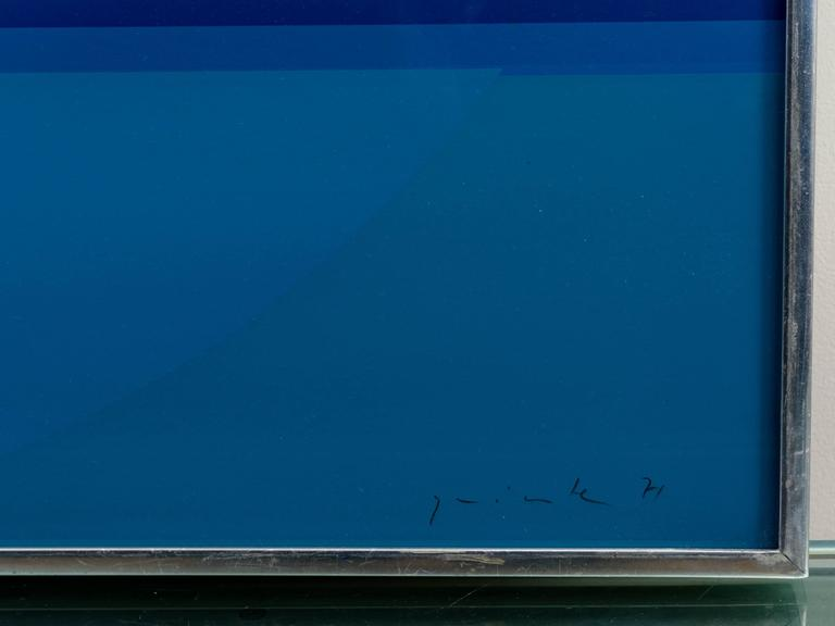 Lothar Quinte abstract silkscreen,
