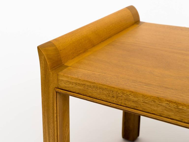 Mid-Century Modern Tommi Parzinger 1950s Mahogany Bench For Sale