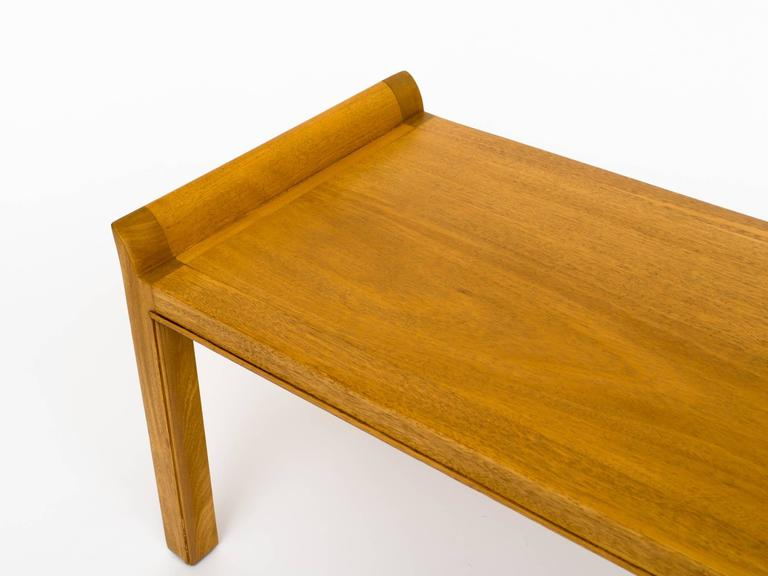American Tommi Parzinger 1950s Mahogany Bench For Sale