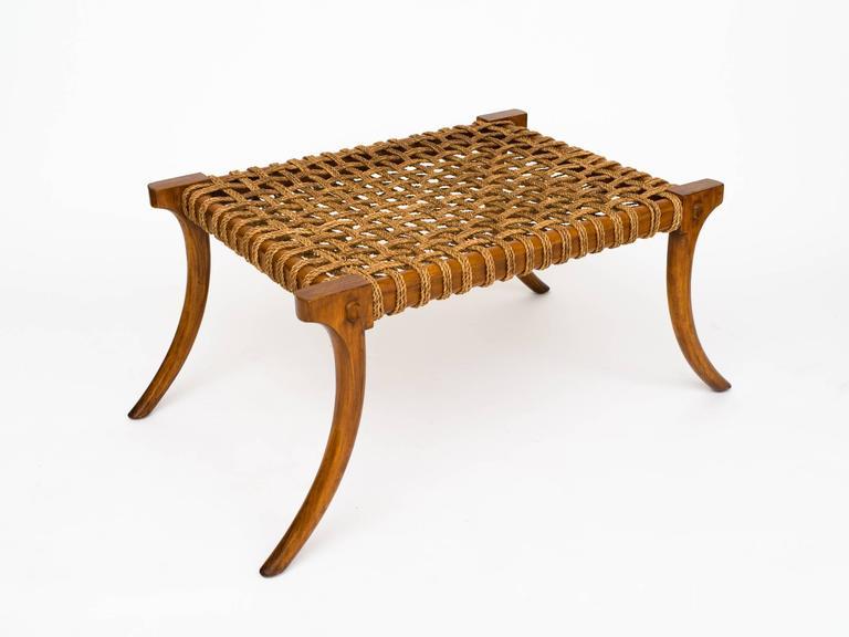klismos leg bench ~ walnut klismos bench coffee table for sale at 1stdibs