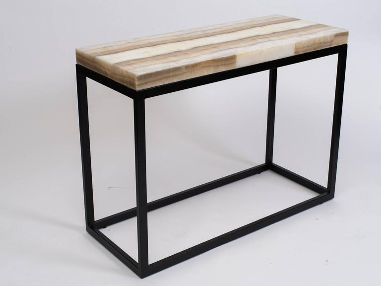 Natural Ribbon Onyx Console For Sale At Stdibs - Shadow box console table