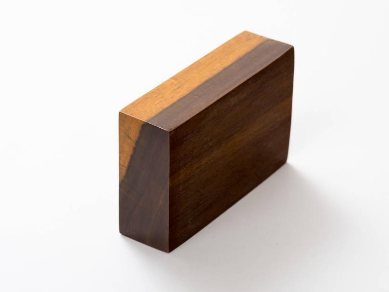 Peruvian Nazca Textile Exotic Wood Box For Sale 2