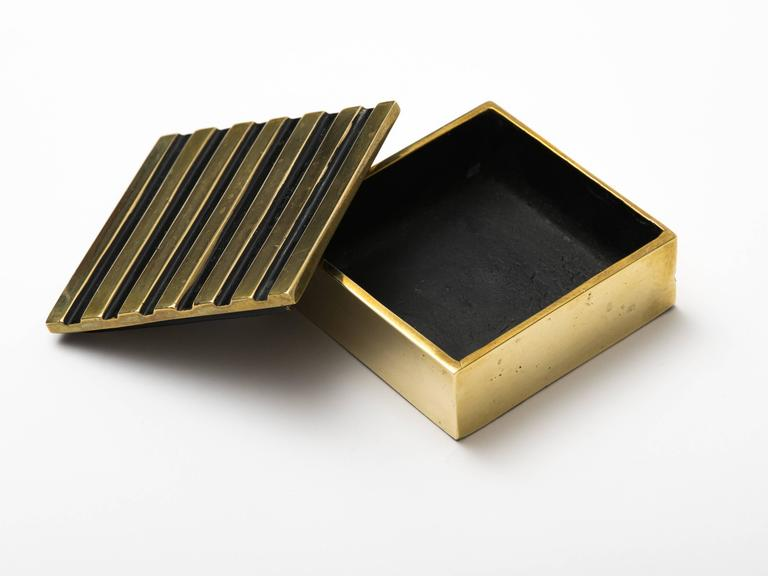 Mid-Century Modern Austrian Lacquered Brass Box For Sale