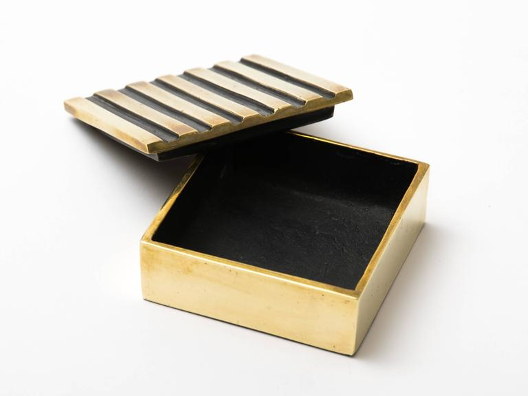20th Century Austrian Lacquered Brass Box For Sale