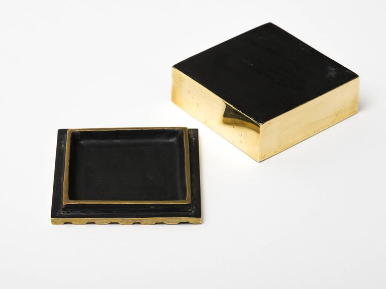 Austrian Lacquered Brass Box For Sale 1