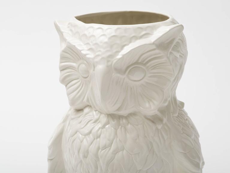 Italian 1960s Ceramic Owl Umbrella Stand Vase At 1stdibs
