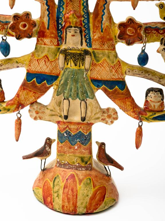Aurelio Flores Mexican Tree Of Life Candelabra For Sale At