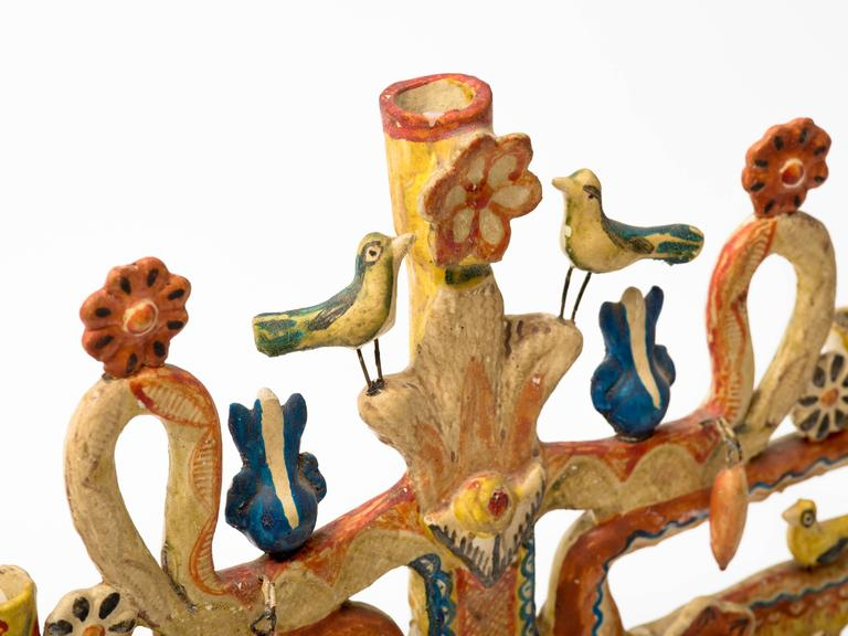 Aurelio Flores Mexican Tree of Life Candelabra 5
