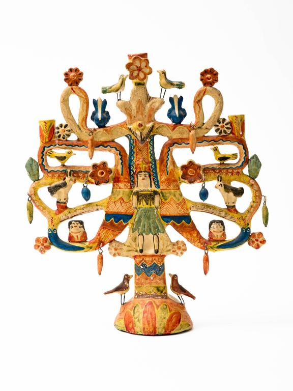 Aurelio Flores Mexican Tree of Life Candelabra 9